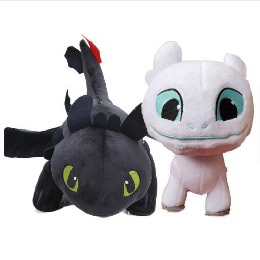 2pcs/lot 15cm 22cm White Toothless How to Train Your Dragon 3 Plush Toy Night Fury Soft White Dragon Stuffed Animal Doll Toys stuffed toy