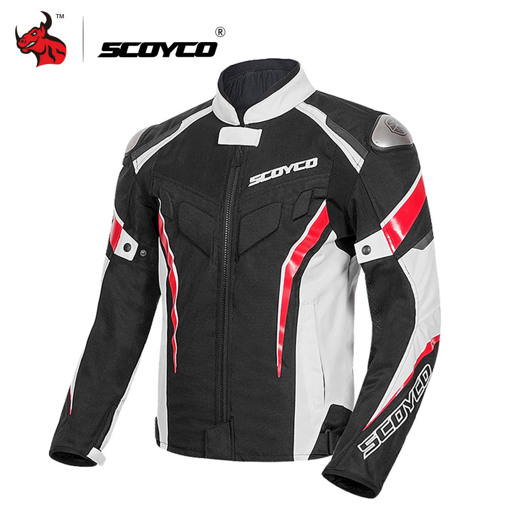 SCOYCO Motorcycle Jacket Protective Gear Reflective Summer Motocross Jacket Breathable Moto Jacket Motorcycle Protection Armor