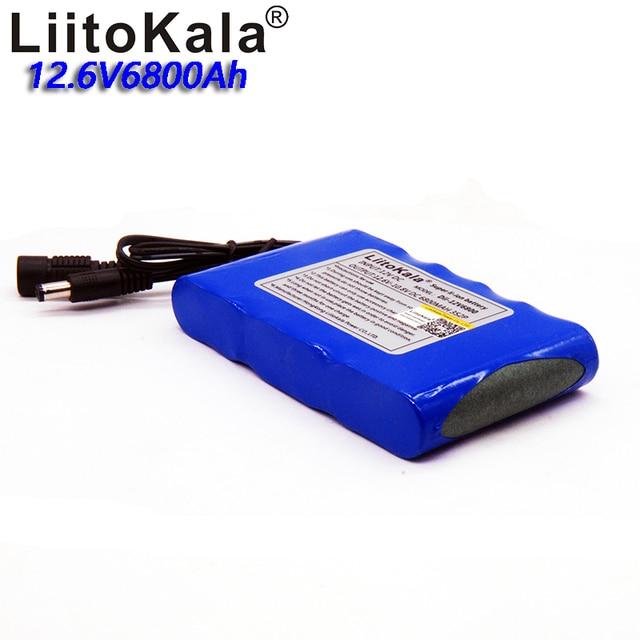 Liitokala High Capacity 12v 6800mah Lithium Battery Pack 18650 Outdoor Lighting Closed Circuit Monitoring Supply