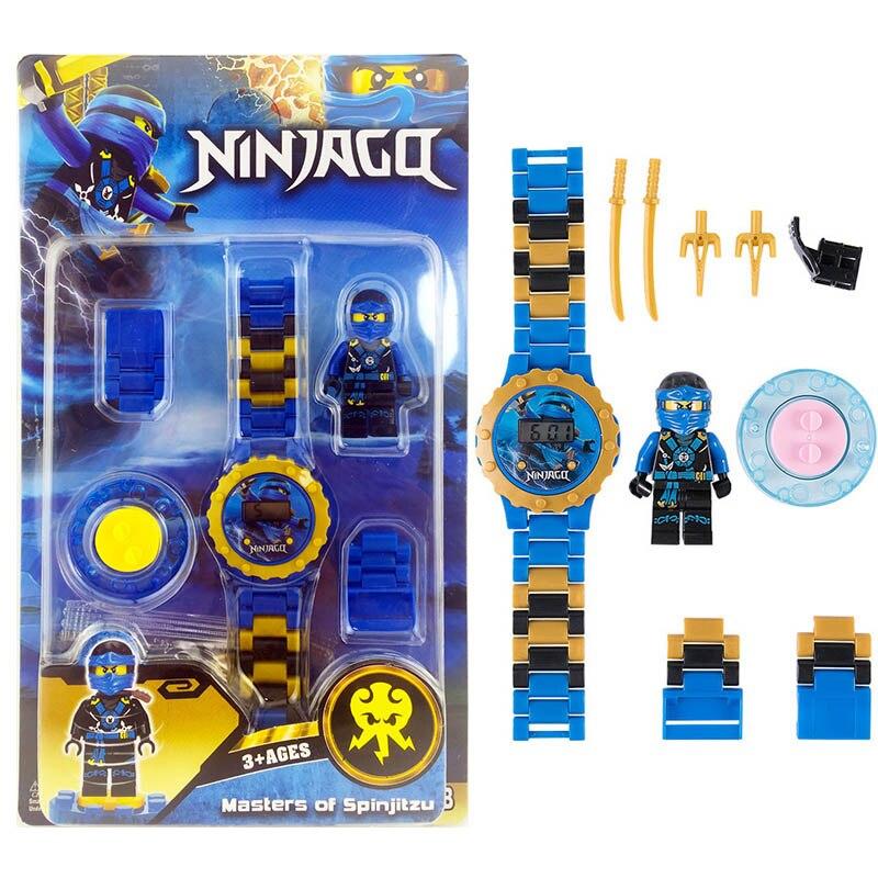 Ninjagoing Building Blocks Series Mini Watch Avengers Marvel Batman Iron Man SpiderMan Compatible LegoINGLY Figures Toy For Kids