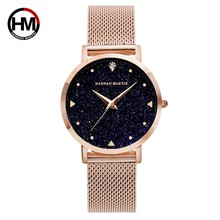 Japan Movement Night Flash Starry Sky Dial Stainless Steel Waterproof Creative Women Watches Diamond Elegant Ladies Quartz-Watch(China)