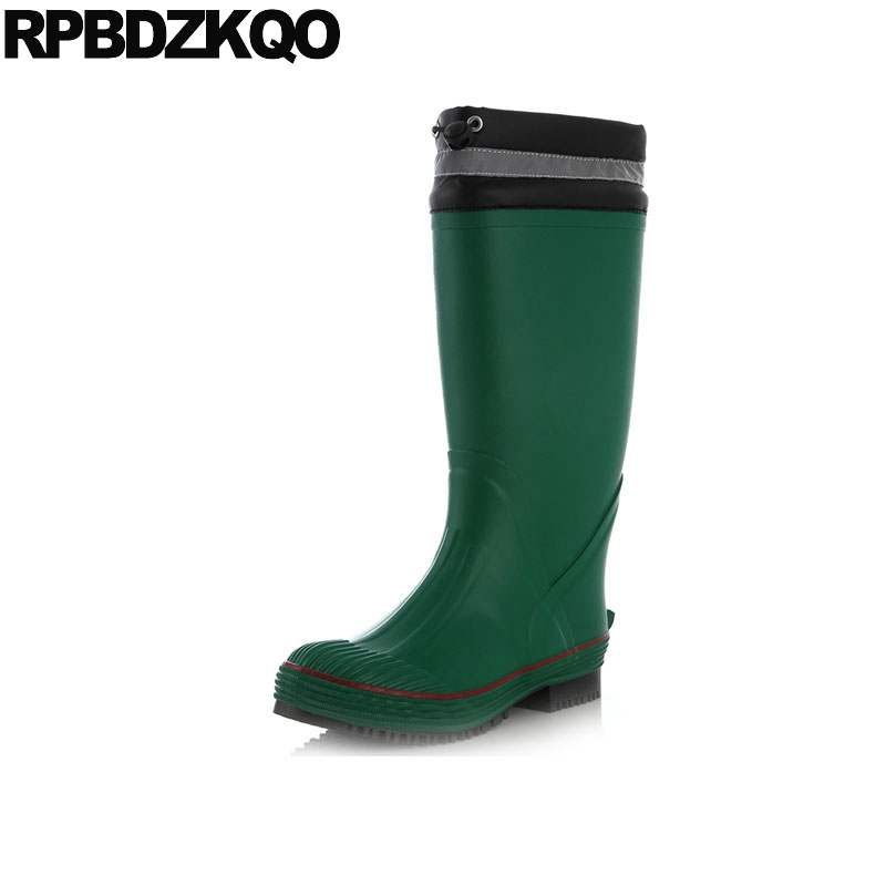 slip on green shoes high quality pvc designer tall mens rubber rain boots waterproof black mid calf stylish camouflage rainboots цена 2017