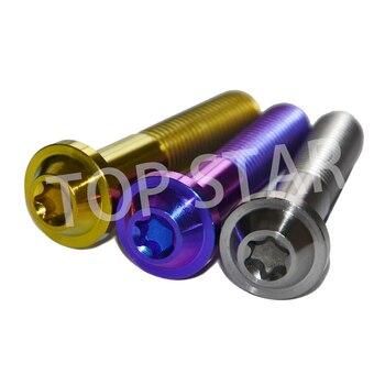 M10x65mm Titanium Bolts Hexagon Truss Headed Screws Ti Fastener for Motorcycle Modify Multiple  OEM Multicolor 6PCS