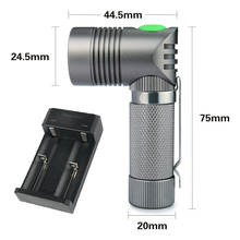 UniqueFire 90 Degree Light UF-V4-A Super MINI Lamp Troch Angle Shape Design XPE LED 250 LM+Two Slot Charger Free Shipping