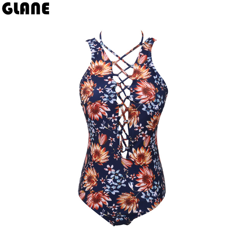 Sexy Women Florl Swimwear One Piece Swimsuit Monokini Push Up Padded Bikini Bathing Suit Beachwear Printed Biquini