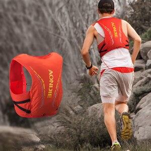 Image 4 - AONIJIE C942 المتقدمة الجلد على ظهره المجموعة المائية حقيبة ظهر سترة تسخير المياه المثانة التنزه التخييم الجري سباق ماراثون