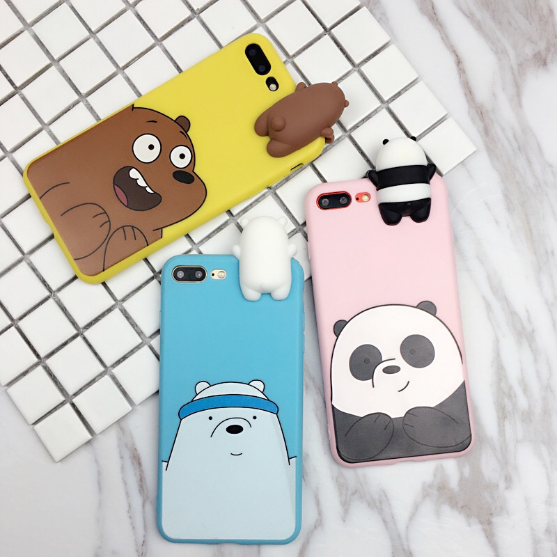 Galleria fotografica for Samsung Galaxy Note 9 3D Cute Cartoon We Bare Bears brothers funny toys soft phone case for Samsung Galaxy Note 8 case