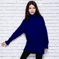 2016 mujeres de invierno de la Cachemira suéteres y Suéteres Calientes de espesamiento Femenino de Cuello Alto mujeres de la Alta Calidad Caliente