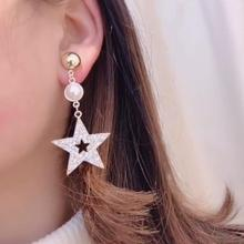 2019 Zinc Alloy Time-limited Aretes Brinco New Fashion Five-pointed Star Studs Best Selling Earrings For Women Stars Jewelry