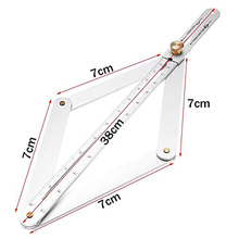 Universal Miter Angle Measuring Tool Ruler Frame Carbon Steel Protractor Multi-angle Measurement Woodworking Tools