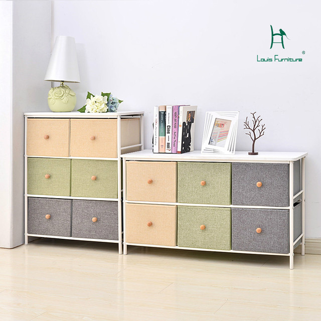 Superieur Louis Fashion Children Cabinets Toys Drawer Type Storage Locker Japanese  Style Six Bucket Bedroom Iron Frame