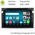 HD 1024*600 Screen 2GB RAM Octa Core Android 6.0.1 Car DVD GPS Radio For VW Passat Golf  Polo Jetta Skoda Peugeot 307 1996-2008