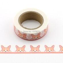 10 м декоративные милые корги собака печати Васи ленты Diy Скрапбукинг Фотоальбом школы Скрапбукинг инструменты кавай бумажные наклейки маска