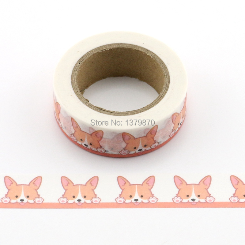 10m Decorative Cute Corgi Dog Print Washi Tape Diy Scrapbooking Photo Album School Scrapbooking Tools Kawaii Paper Stickers Mask