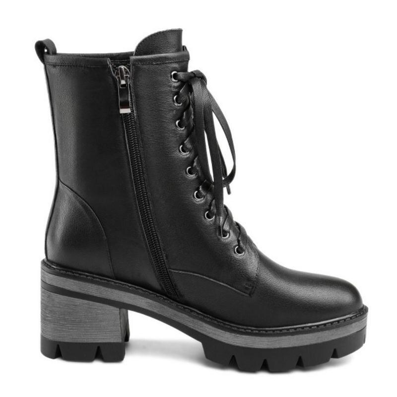 forme Dames 3443 Black Femme Plate En Croix Cloth De Fanimila Femmes Taille black Fur Chaussures Courtes Sangle Bottes Rivets Mode Cheville Cuir Véritable mn0wvN8