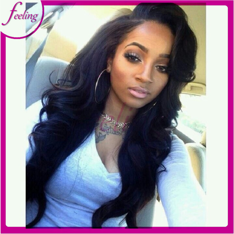 100% human hair full lace wigs body wave brazilian virgin hair wig high-end  full french lace wigs free shipping fbceafad9