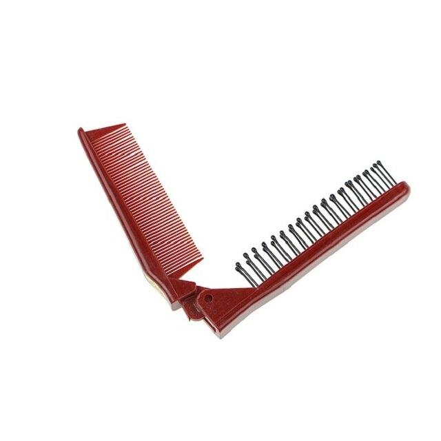 Anti-estático 3 en 1 peine cinturón portátil viaje plegable plástico peine herramienta de peluquería cepillo de pelo de Q1