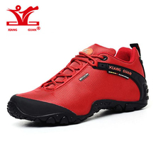 2016 XIANGGUAN Man Hiking Shoes for Men Athletic Trekking Boots Zapatillas Sports Climbing Shoe Outdoor Walking Sneskers