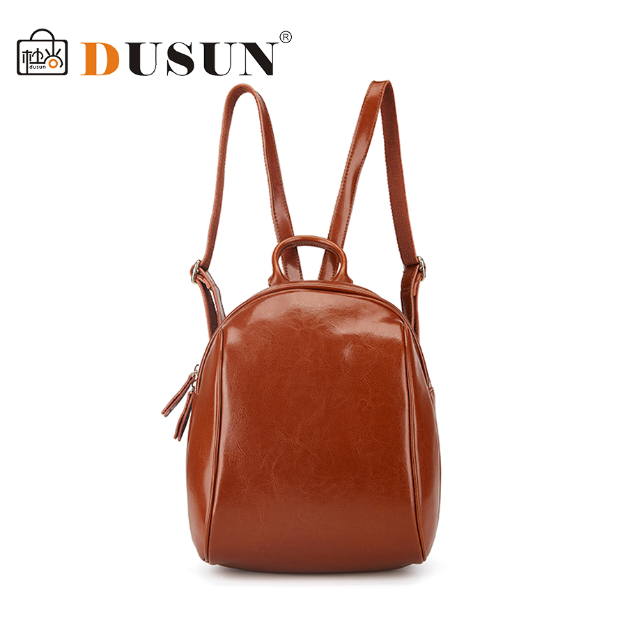 DUSUN 2017 Real Genuine Leather Women Backpack School Bags Teenagers Fashion Ladies Backpack Bags New Arrival Backbag new arrival women genuine leather backpack young lady real leather backpack luxury female school bags with simple design e143