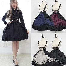 Feminino princesa vestido de halloween vitoriano gothic lolita saia cosplay lolita traje lady maid vestido em camadas jogos cosplay