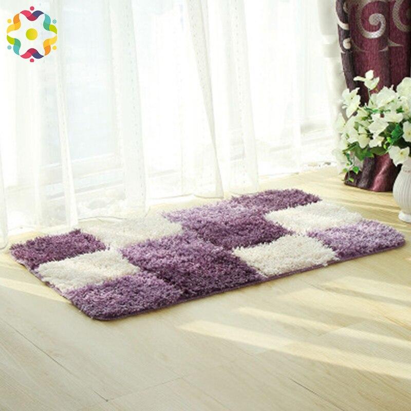 Tapis de sol flocage absorbant antidérapant Plaid tapis de salle de bain salon sans fin Table basse tapis livraison gratuite