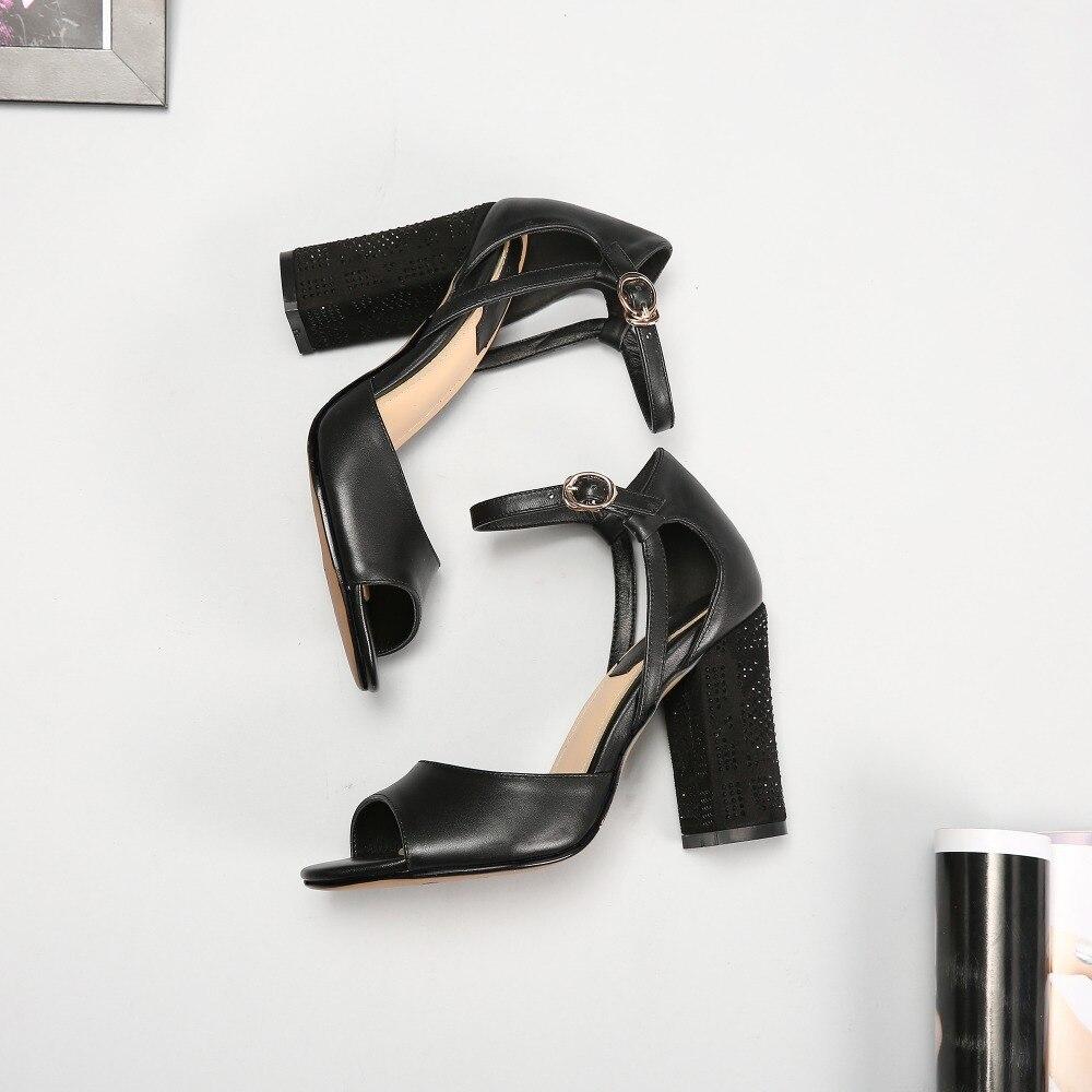 Initiale Cuir 2017 Vert Us Chaussures Talons Femmes Foncé 3 5 Carrés Vache 13 Noir Toe L'intention En Sandales Ouvert 712937a1 Taille Femme 712937a2 qSwC5Yxdx