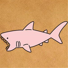 Cutte Street Icon Women Men Clothes 60mm Shark baby Iron on transfer Printing Patches for clothing T-shirt Patch DIY 3D Stickers(China)