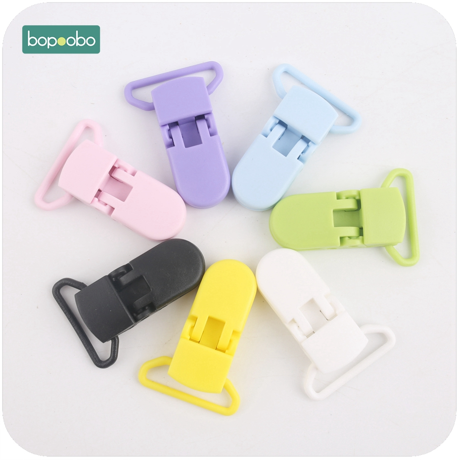 Bopoobo Pacifier Clips Safe Baby Plastic Pacifier Clips 5pcs Infant Soother Hold Non-toxic Material Baby Teethers DIY Crafts