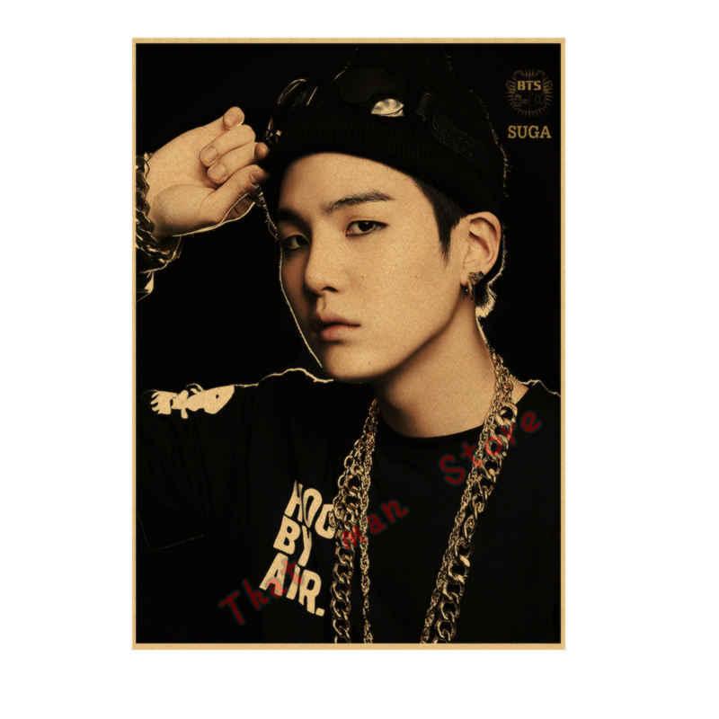 Kpop Bangtan Poster Dinding Dekorasi Poster Stiker Jung Rap Rakasa Wallpaper Jin Stiker Dinding Jimin Suga.jpg q50