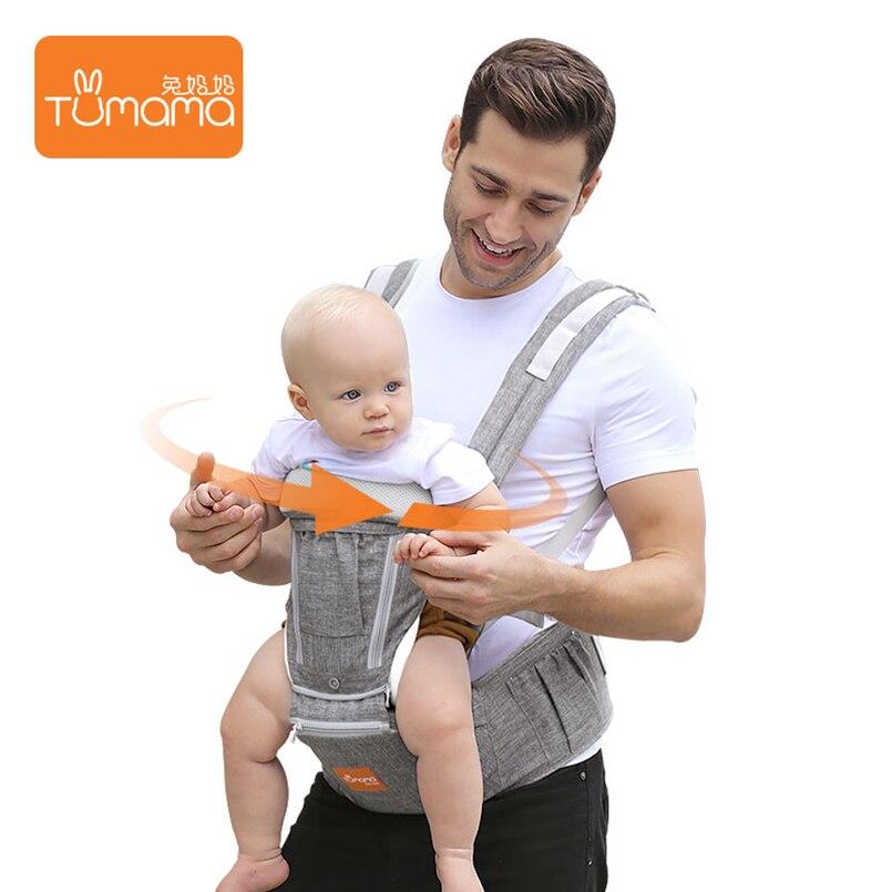 Tumama Portable bébé sacs à dos pliable porte-bébé infantile Hipseat avant face sac à dos transporteurs pour enfants attache kangourou pour bébé fronde - 6
