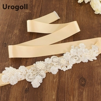 Noble Flowers Handmade Belt Luxury Wedding Sashe Crystal Beads Pearl Diamonds Embroidered Belt Wedding Sashes For Party Dress