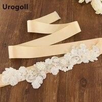 Noble Flowers Handmade Belt Luxury Wedding Sashe Crystal Beads Pearl Diamonds Embroidered Belt Wedding Sashes For Party Dress