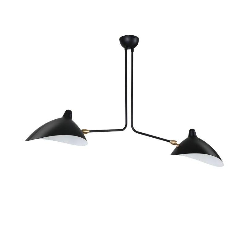 Nordic Lâmpada Do Teto Iluminação de Teto do Designer Réplica Rotativo Bico de pato da Sala de Jantar Lâmpadas de Iluminação Branco/Preto Plafonnier