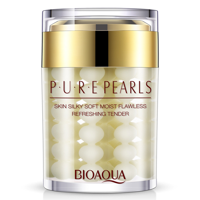 BIOAQUA Brand Pure Pearl Essence Face Cream Hyaluronic Acid Deep Moisturizing Skin Care Anti Wrinkle Whitening Essence Cream 60g 60g brand bioaqua silk protein deep moisturizing face cream shrink pores skin care anti wrinkle cream face care whitening cream page 7
