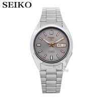 Seiko 5 автоматический 21 Jewels серый циферблат часы Для мужчин смотреть сделано в Japan SNXS75K1 SNXS79K1 SNKG83J1 SNXS73J1 SNXS75J1 SNXS77J1