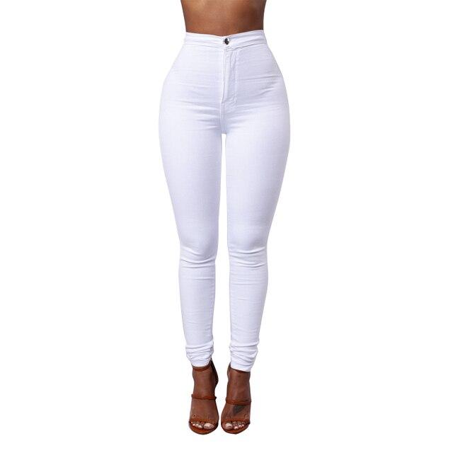 13f5810d95 2018 Fashion White Black jeans woman high waist ripped jeans for women denim  jean pants Hole skinny jeans woman