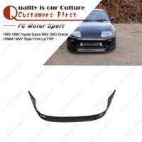Car Accessories FRP Fiber Glass Front Lip Fit For 1993 1998 Supra MK4 GRD Gracer / RMM / MVP Style Front Bumper Splitter Lip