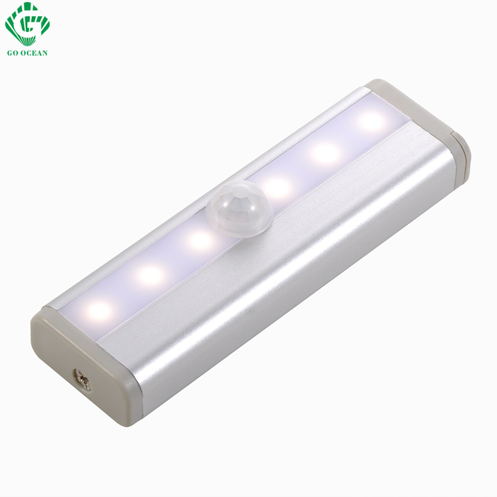 GO OCEAN Under Cabinet Lights Night Light Toliet Motion Sensor Magnetic Strip LED Closet Lights Cabinet Light Battery Night Lamp (3)