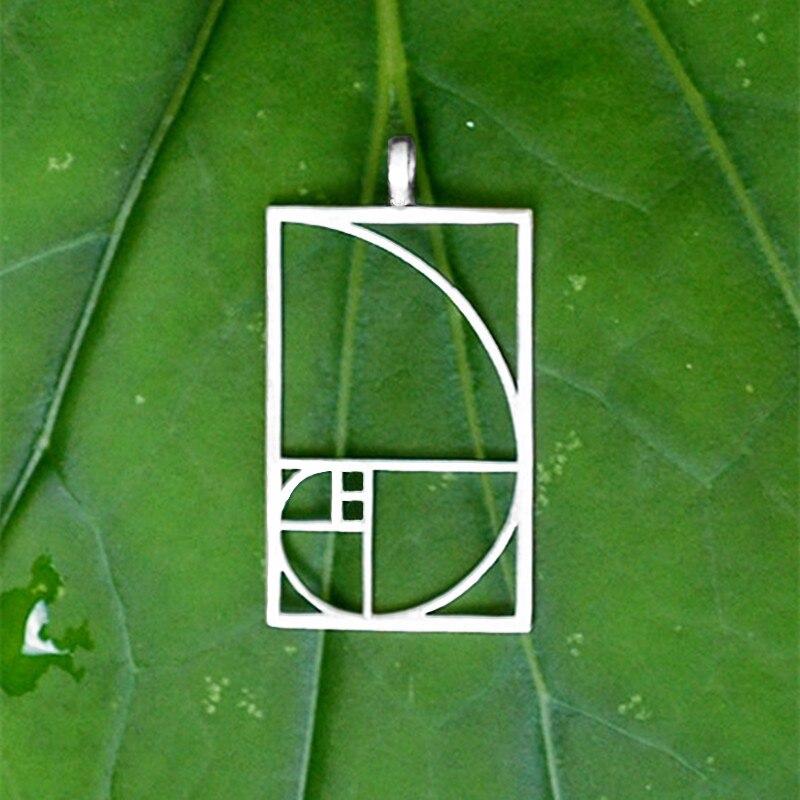 Envío de la gota Colgante de proporción dorada de Fibonacci Negro / - Bisutería - foto 2