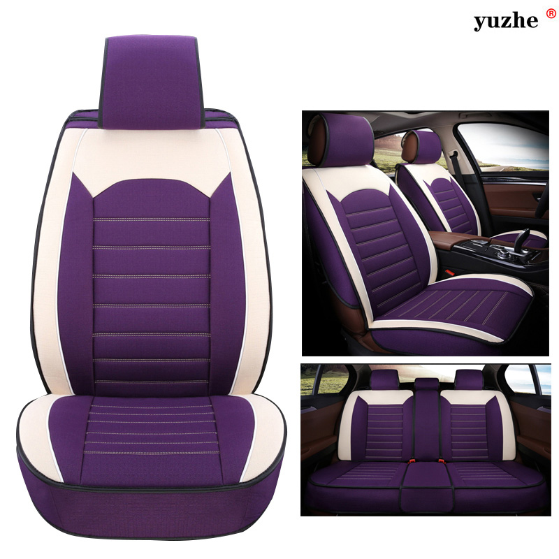 Yuzhe Linen car seat cover For Mitsubishi Lancer Outlander Pajero Eclipse Zinger Verada asx I200 car accessories styling cushion car door stopper protection cover fit for mitsubishi asx outlander lancer accessories car sticker