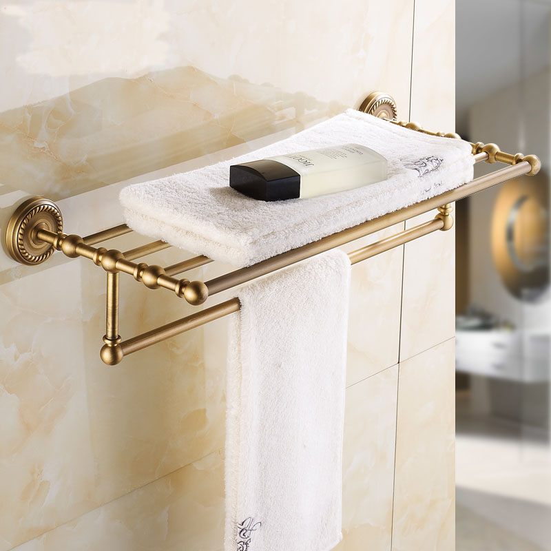 Aliexpress.com : Buy 18 Different Copper Bathroom Accessories Set, Brass Bathroom  Accessories Shelf Antique, Bathroom Shelf Hooks Towel Bars Suite From ...