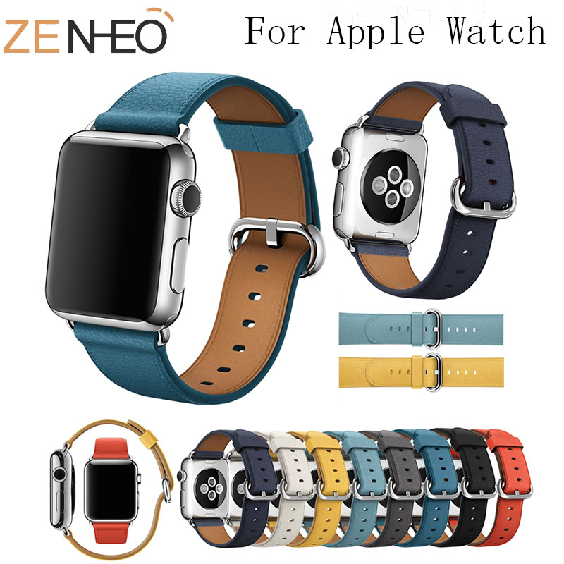 Classic Buckle Strap For Apple Watch Series 1 2 3 4 Watch Band 42mm/44mm/38mm/40mm Replacement Wrist Bracelet Belt Watch Straps
