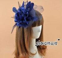 האירופי ווג מופע בנות פנסי מסיבת חתונת סרט שיער Fascinator פרח רשת רשת כלה כיסוי ראש נוצת אבזרים לשיער