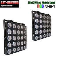 2pcs/lot professional 5x5 25eyes led matrix light rgb for stage party KTV DJ