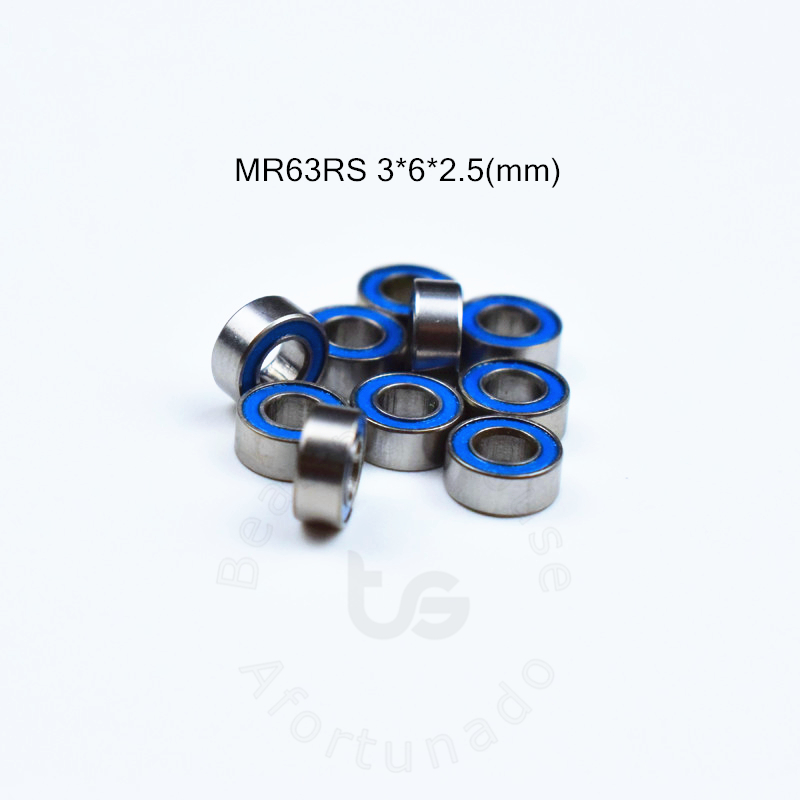 MR63RS 3*6*2.5(mm) 10pieces free shipping bearing ABEC-5 Rubber Sealed Miniature Mini Bearing free shipping MR MR63RS