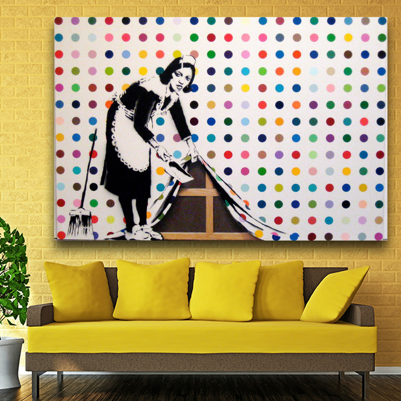 Dorable Banksy Wall Art Canvas Inspiration - Wall Art Collections ...