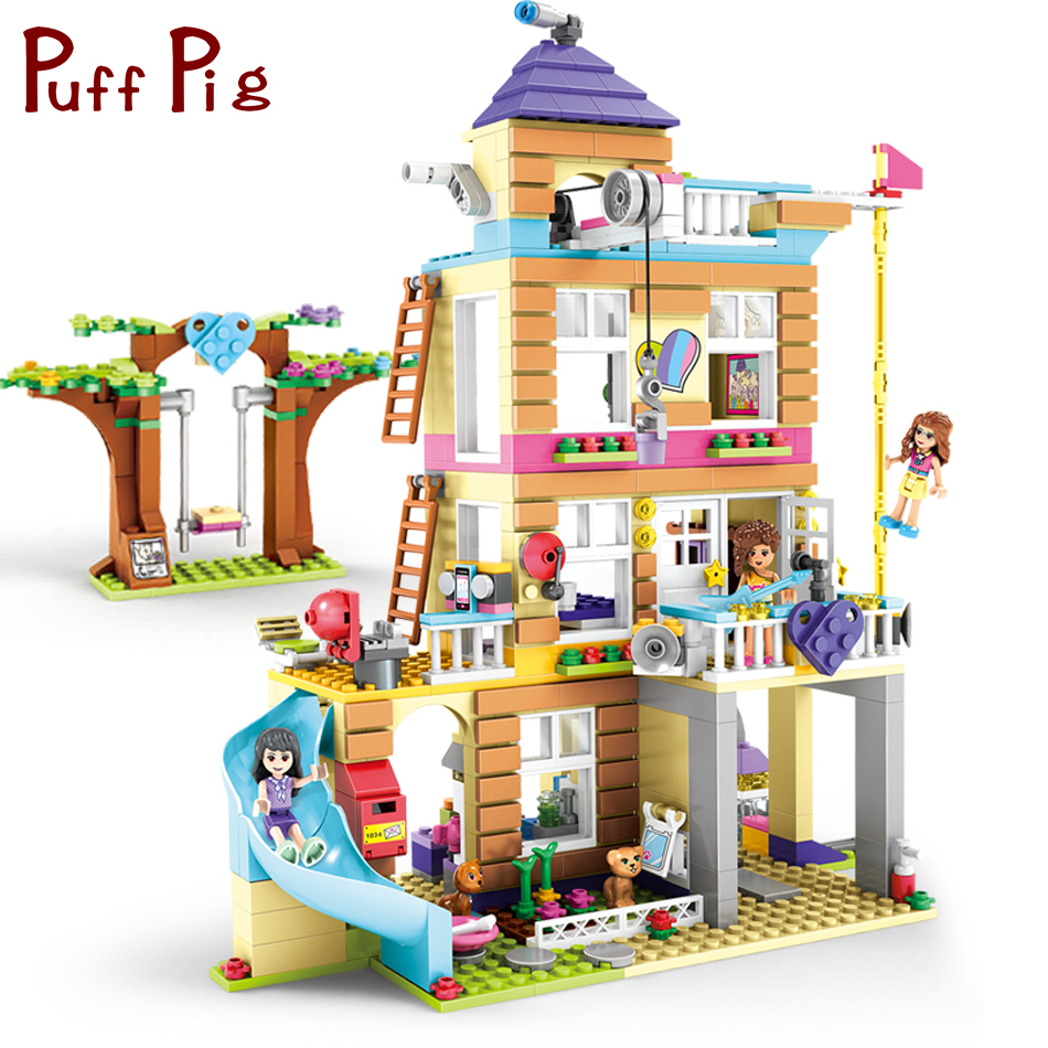 708PCS Girls Olivia Emma Friendship House Bricks Model Compatible Legoed Friends City Figures Building Blocks Gift Toys For Kids minecrafted building blocks toys bricks figures compatible legos minecraft friends city toys birthday gift for kids gift toys