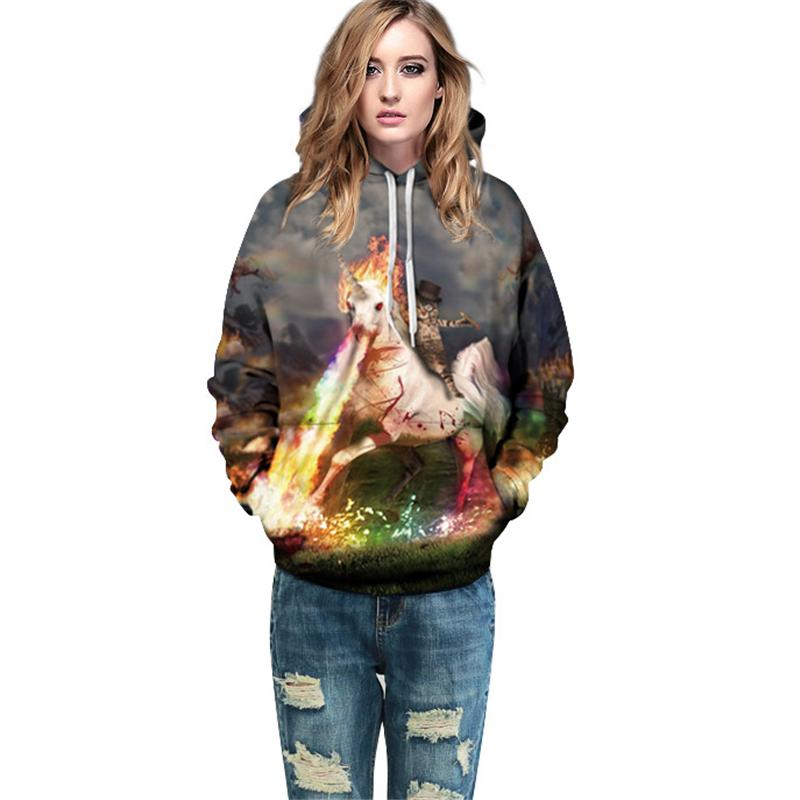 2017 Casual Hoodies Sweatshirts Women Galaxy Space 3D Print Fashion Plus Size Colorful Men Hooded Loose Hip Hop Female Pullover