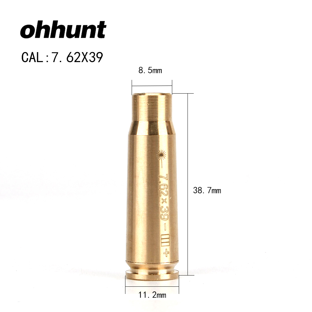 Ohhunt CAL 7.62x39 Cartridge Red Laser Bore Sighter Boresighter Sighting Sight Boresight Colimador For Hunting Rifle