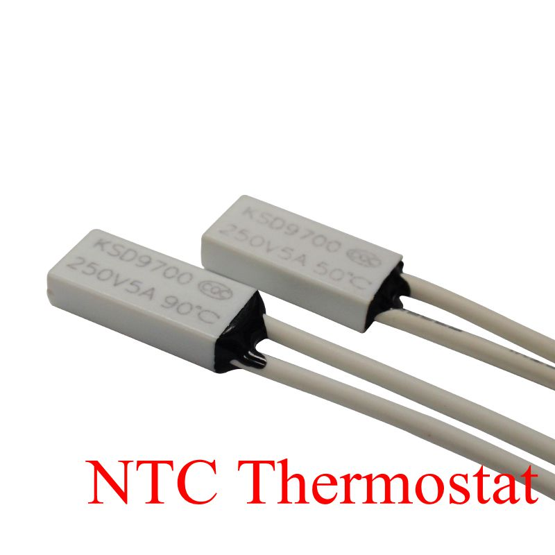 100PCS Thermostat KSD9700 TB05 40C 150C 130C 140C 150C 15 7 3 5 Bimetal Disc Temperature Switch Thermal Protector degree in Switches from Lights Lighting